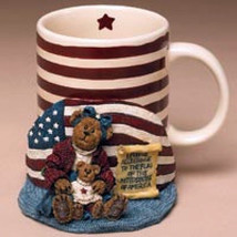 "Boyds Bears Accessory- MUG- ""Betsy.. The Patriot"" Style #395025 -NIB- Retired - $26.99"