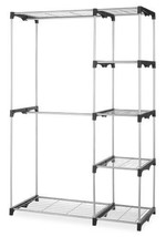 NEW Double Rod Closet Silver Organize Free Stan... - $85.47