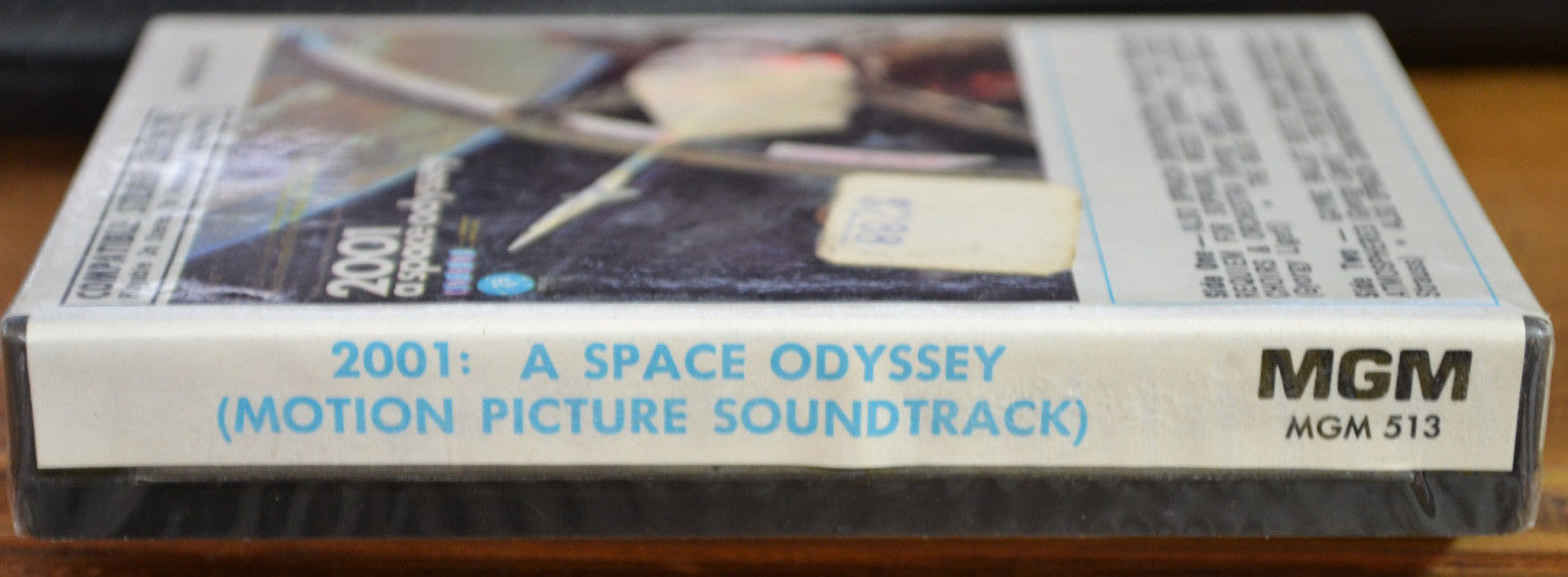 2001 A SPACE ODYSSEY ~ SOUNDTRACK ~ 1968 CASSETTE TAPE ~ CLAM SHELL CASE ~ RARE