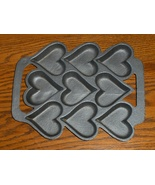 John Wright Cast Iron Heart Baking Pan Corn Bre... - $19.99