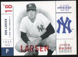 2001 Upper Deck Legends of New York #101 Don Larsen - $3.00
