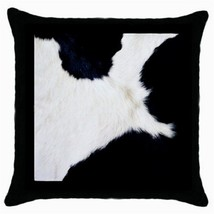 Throw Pillow Case Decorative Cushion Cover White Black Cow Print Gift 36... - $16.99