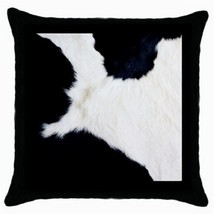 Throw Pillow Case Decorative Cushion Cover White Black Cow Print Gift 36... - ₨1,226.54 INR