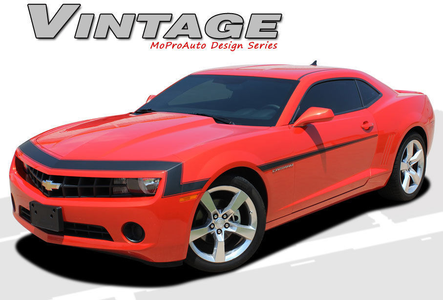 1968 Style VINTAGE 2012 Camaro Nose Hood Stripes Graphics Decals 3M Vinyl GR2 SS