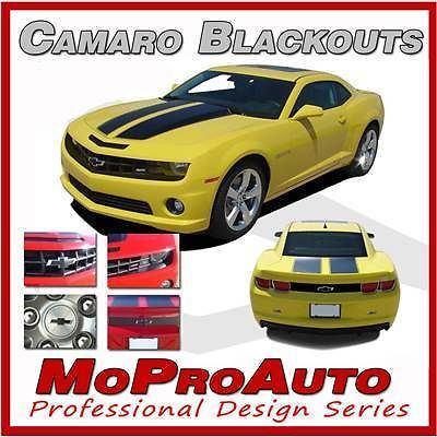 Camaro BLACK OUT 2013 Decals Emblems Trunk SS Grill NEW / 3M Pro Vinyl 552