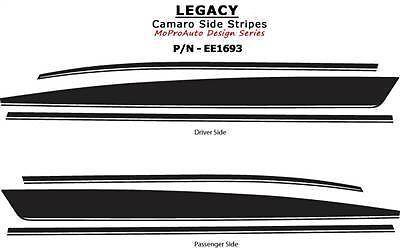 2011 Camaro LEGACY 3M Pro Vinyl Grade Yenko Style Side Stripes Decals SS 549 RS
