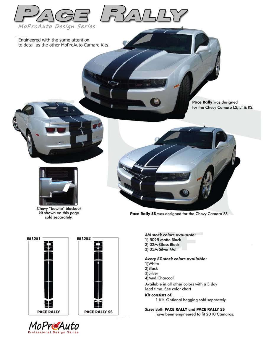 PACE RALLY 2011 Camaro INDY SS Stripes Decals - Premium 3M Vinyl 474