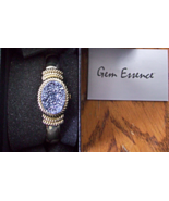 GEM ESSENCE PEACOCK DRUSY HIDDEN DIAL CUFF WATCH - $16.00