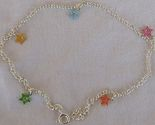 Silver anklet with colored stars 1 thumb155 crop