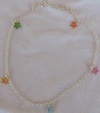 Colorful stars anklet