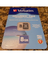 Verbatim 8gb micro sdhc  adapter card - $5.99