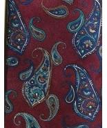 VTG CHRISTIAN DIOR Monsieur Paisley Red & Multi-Color 100% Silk Mens Nec... - $29.69