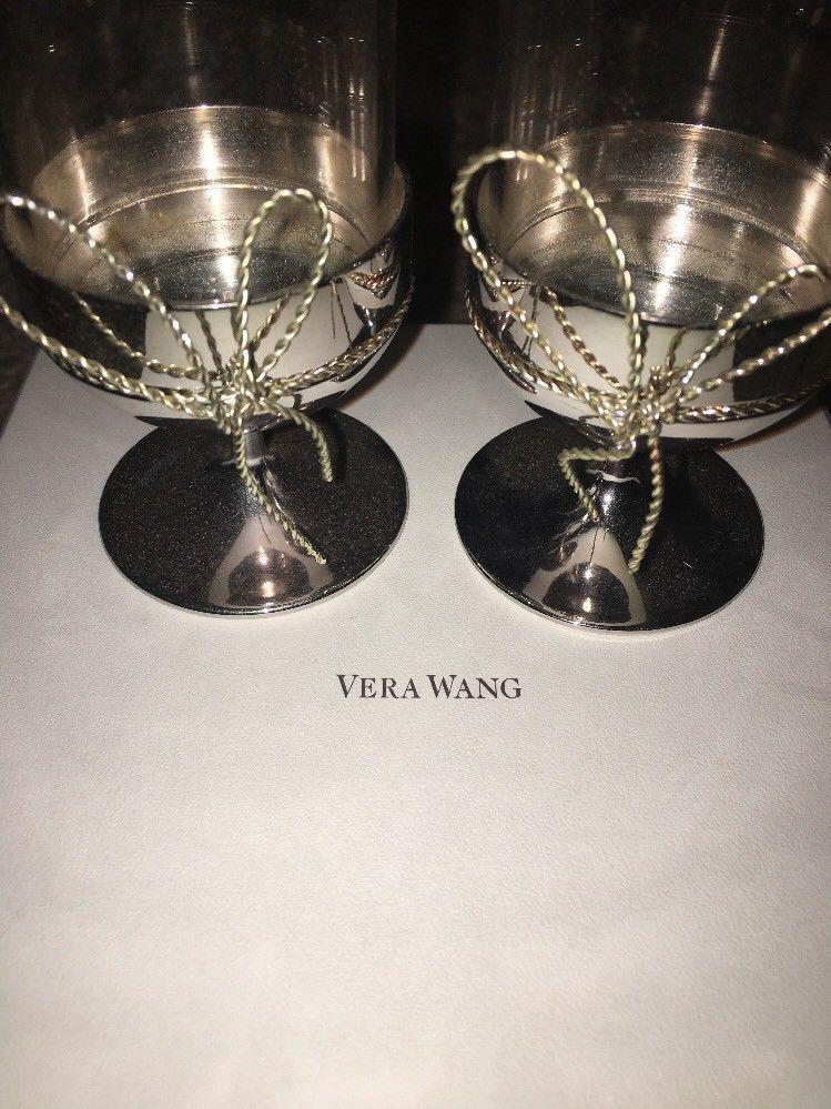 Vera Wang Love Knots Pair Of Tealight Holders NEW Retail $56