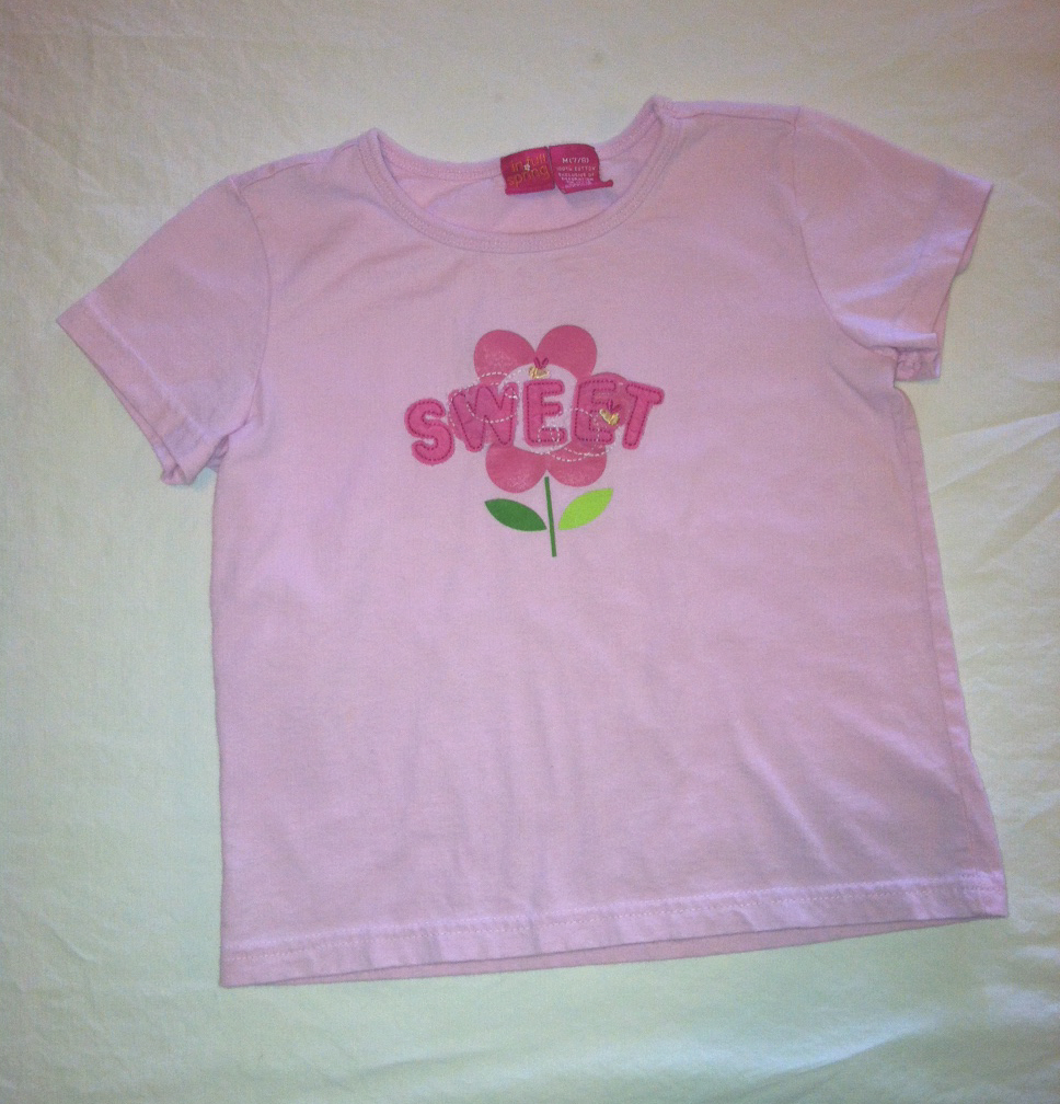 In full spring girl s pink tee shirt sz m 7 8