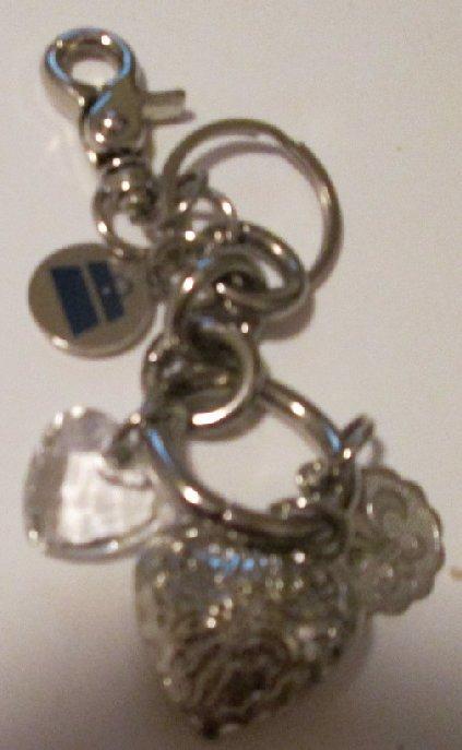 "KATHY VAN ZEELAND charms dangling keyring key chain clip-on ~ 4"""
