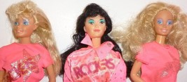 Lot of 3 vintage 80s BARBIE and The Rockers 2 Barbie & DANA Doll dressed - $49.99