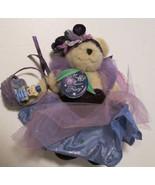 "MUFFY VANDERBEAR Plush bear PLUM FAIRY dressed & SHOES with basket 8"" - $29.99"