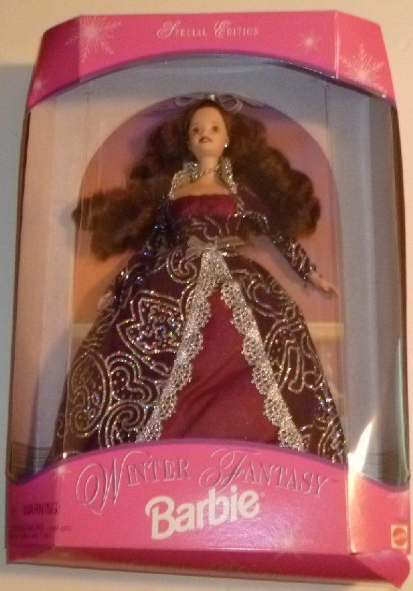 CE 1996 BARBIE Doll WINTER FANTASY MIB DENTED box