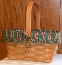 LONGABERGER 1993 hand woven basket cloth & plastic liner - $48.99