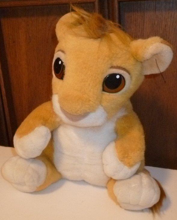 "LION KING Plush talking BABY SIMBA stuffed doll 12"", Disney"