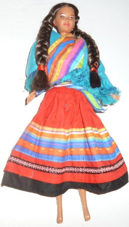BARBIE Doll DOTW Dolls of the World PERUVIAN dressed, NO baby