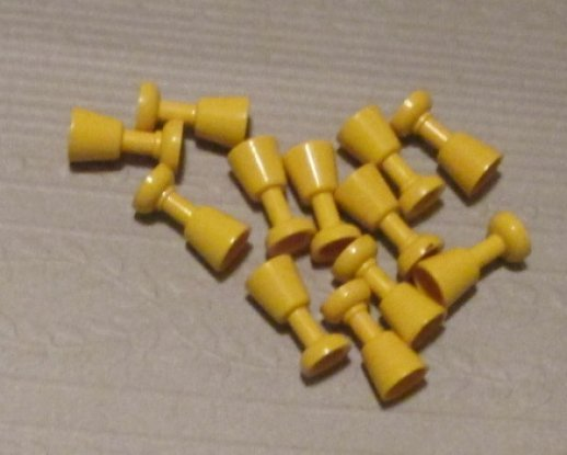 LEGO Parts lot of 12 yellow wine GOBLET GLASSES