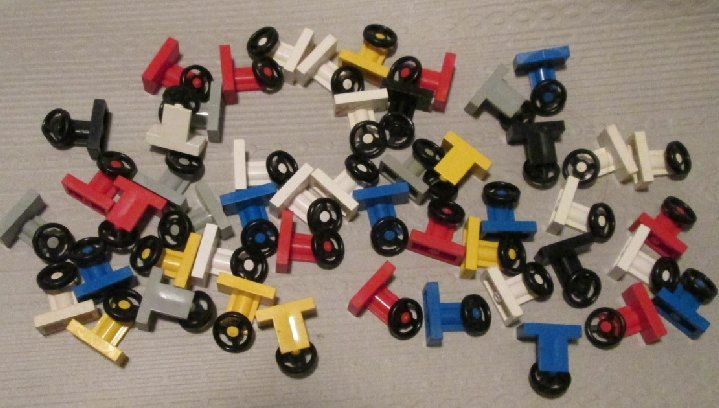 LEGO Parts lot of 50 Car STEERING WHEEL mixed colors