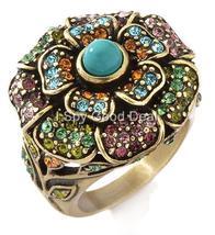 Heidi Daus Floral Crystal Ring Size 5 - $44.95