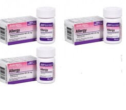 Lot 3 Assured Allergy Medicine 25 mg Tablets Benadryl Bottle Cold Allerg... - $9.84