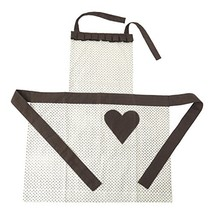 Hallmark Home Cotton Apron with Pocket, Cream Patterned Full Length with... - $37.07