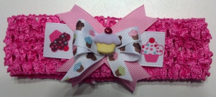 Infant Embroidered Cupcake Bodysuit Skirt 12-18 months plus headband