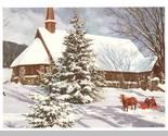Cp horse and sleigh by church thumb155 crop
