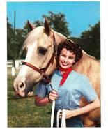 Vintage Print Calendar Art Ranch Woman Horse We... - $4.95