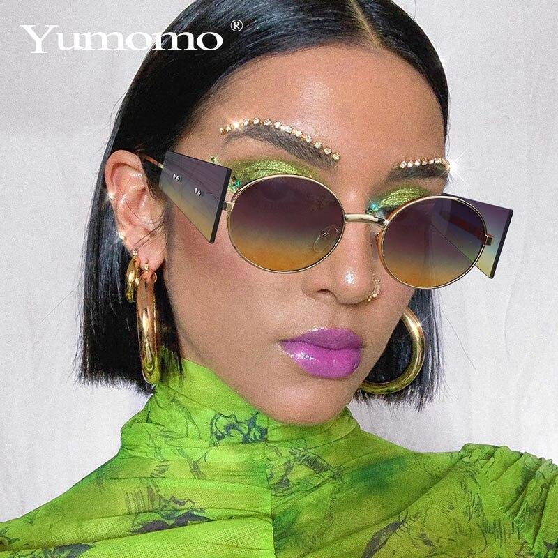 Fashion steampunk men sunglasses fashion oval designer women sun glasses punk new designer uv400