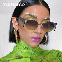 Luxury Rimless Fashion Steampunk Men Sunglasses Fashion Oval Designer Women Sun  image 1