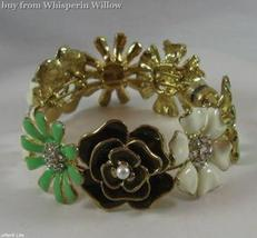 Stylish Multi-Flower Fashion Bangle Bracelet - $16.95