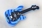 Black   blue guitar