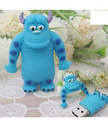 8GB USB Flash Drive Memory Stick : BLUE SMILING FRIEND - - $27.00