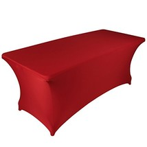 BanquetBay 6FT Stretch Tablecloth -Red - $19.45