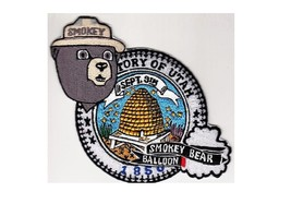 Smokey the Bear Over Utah Balloon US Forest Service USFS NPS Patch 4.25in - $11.99