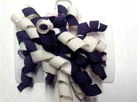Gymboree Cherry Cute Line Barrettes Clips Curly Dark Purple/White Super Cute - $6.95