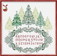 Christmas Wood cross stitch chart AAN Alessandra Adelaide Needleworks - $17.00