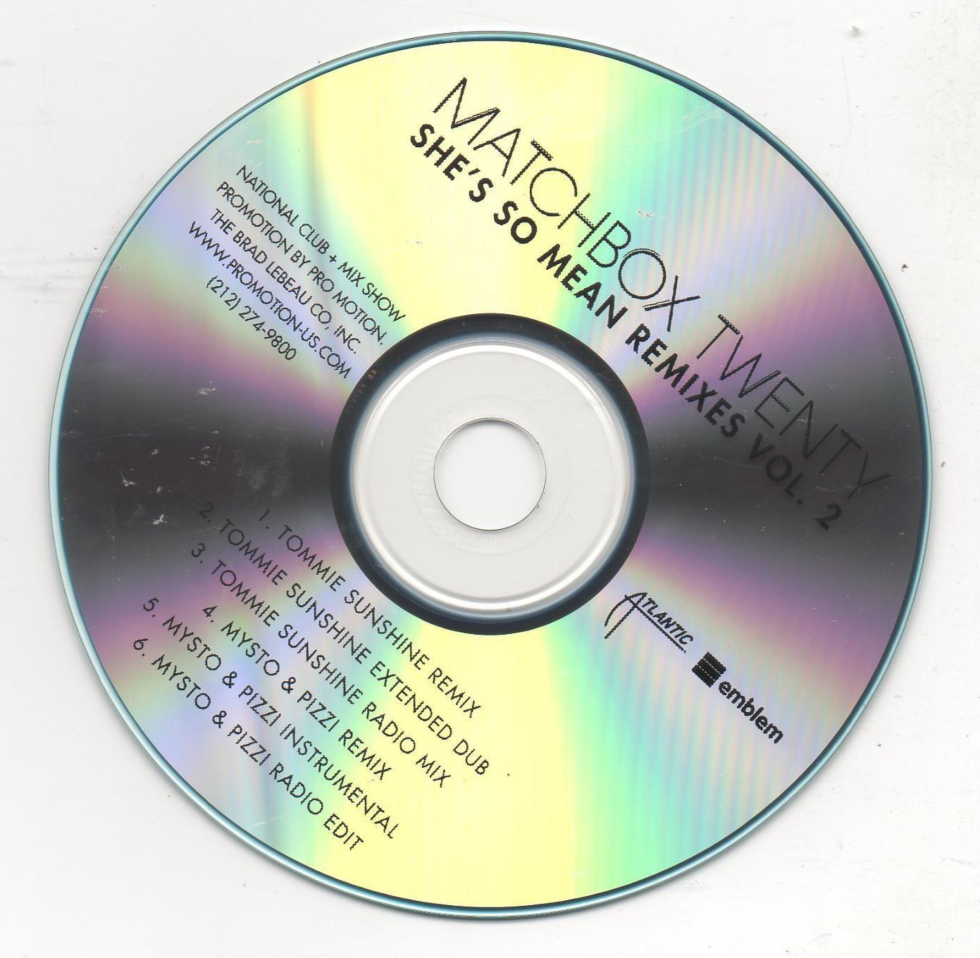 Matchbox Twenty She's So Mean Remixes Vol.2 CD 2013 Promo Rob Thomas