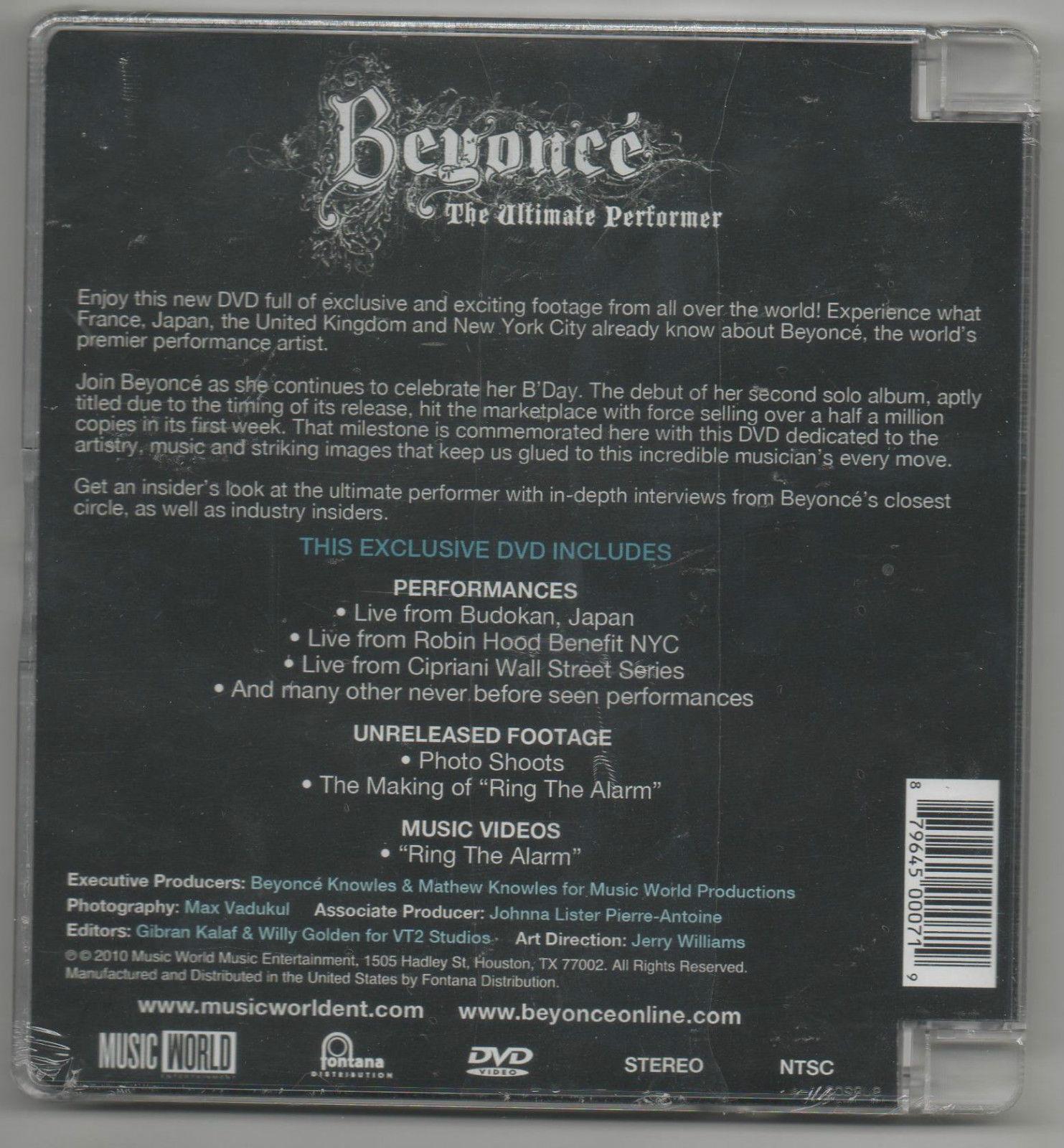 Beyoncé Ultimate Performer Live Performances 2010 DVD Beyoncé