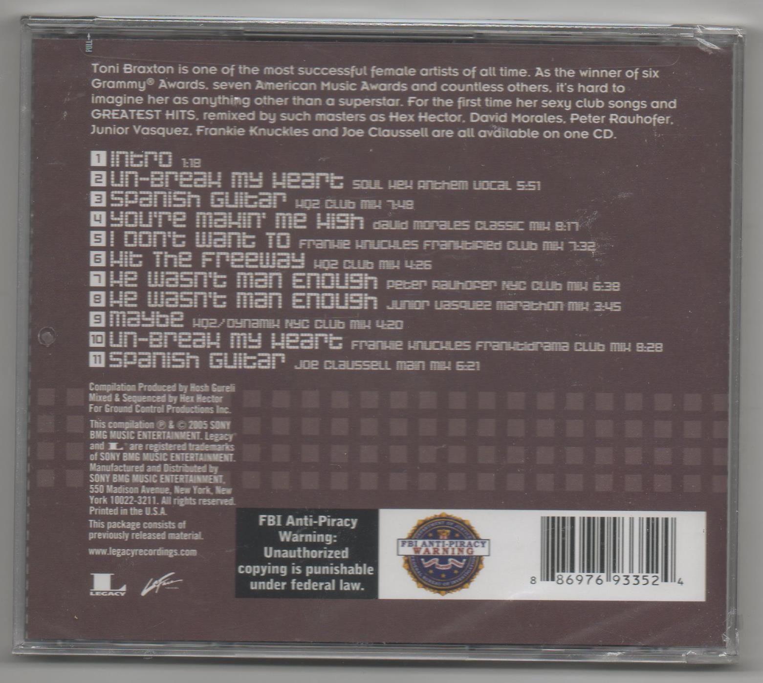 Toni Braxton Un-Break My Heart: The Remix Collection 2005 CD