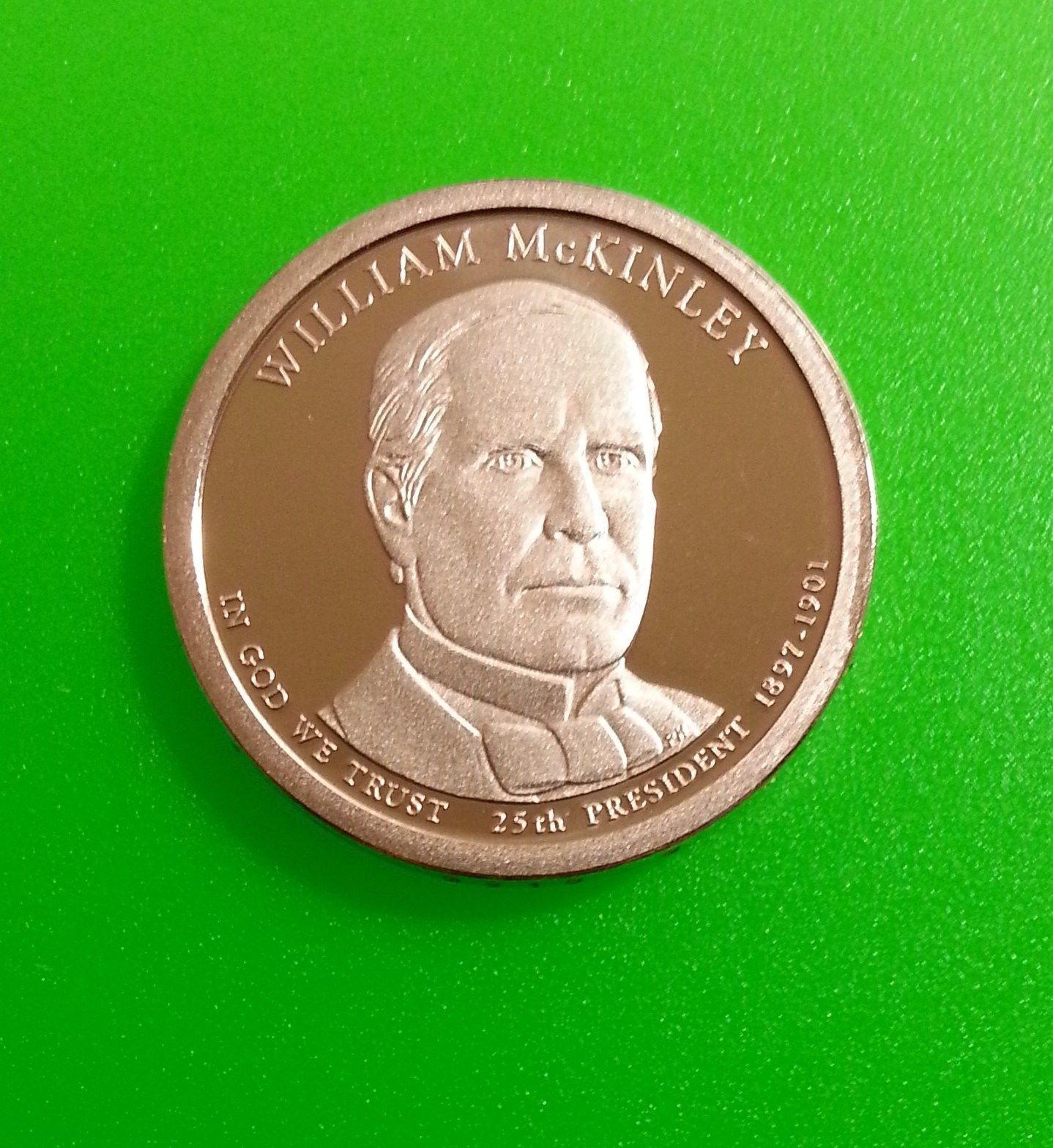 2013-S $1 U.S.A. San Francisco Mint Proof William McKinley Presidential Dollar