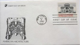 October 9, 1980 First Day of Issue Cover, American Architecture #2 - $1.74