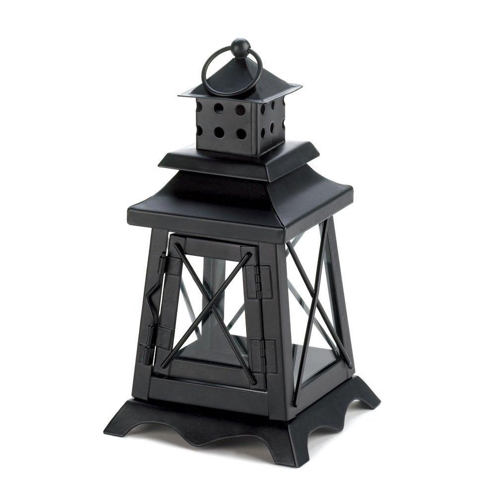 15 Black Railroad Candle Lantern Lighthouse Wedding Centerpieces