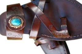 Dark Brown Decor Bath Leather Sandals - $95.00