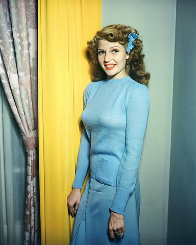 Rita hayworth poster color standing